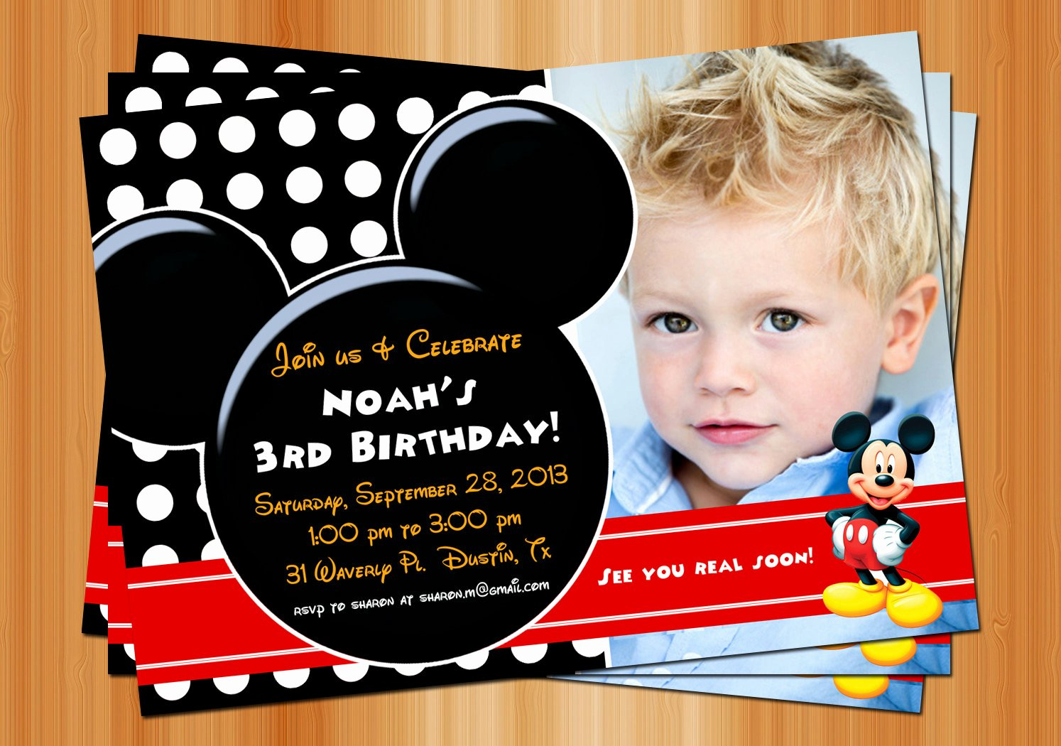Mickey Mouse Clubhouse Birthday Invites Inspirational Mickey Mouse Clubhouse Invitations for Special Birthday Party