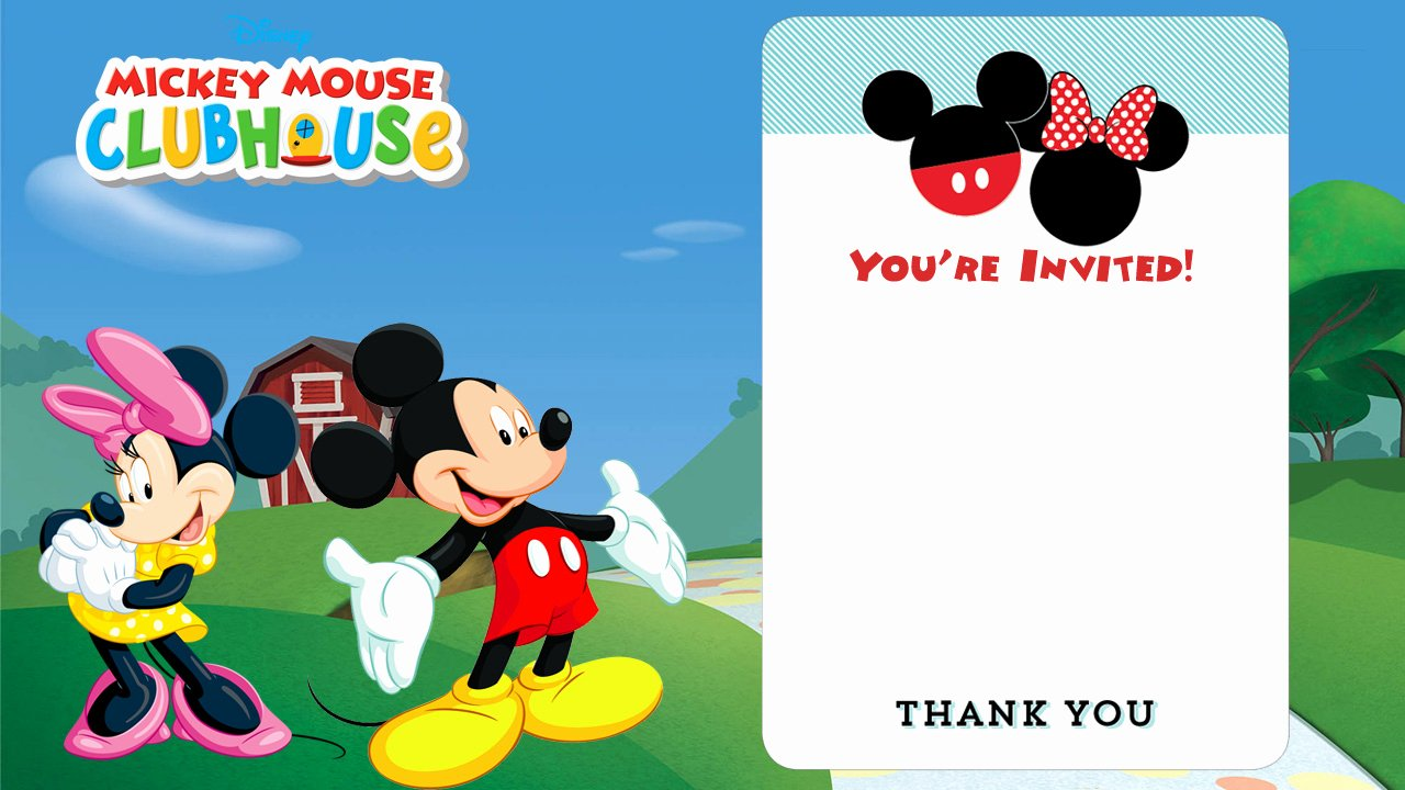 Mickey Mouse Clubhouse Birthday Invites Lovely Free Disney Printable Birthday Invitations Downloadable