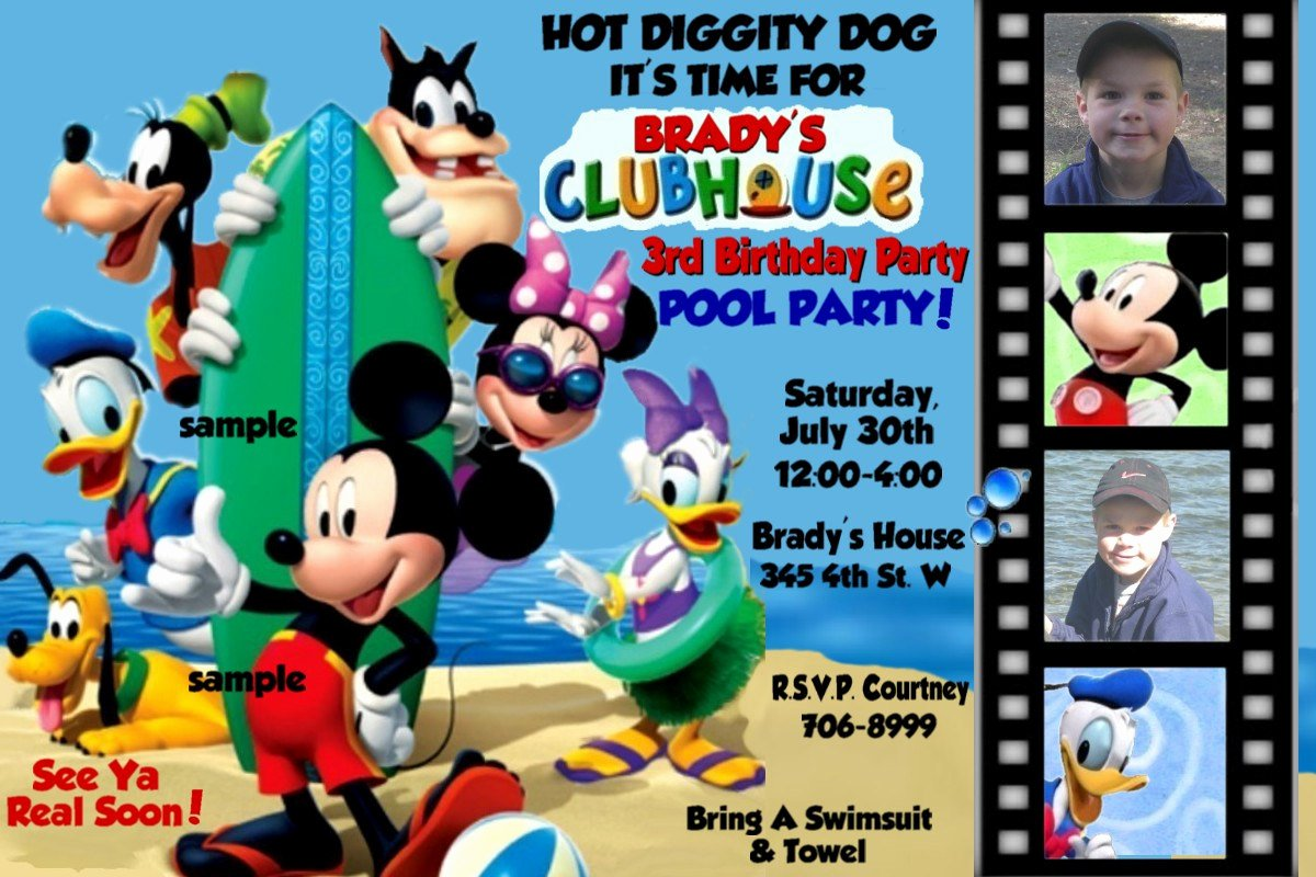 Mickey Mouse Clubhouse Birthday Invites Lovely Mickey Mouse Clubhouse Birthday Invitations Free Invitation Templates Drevio