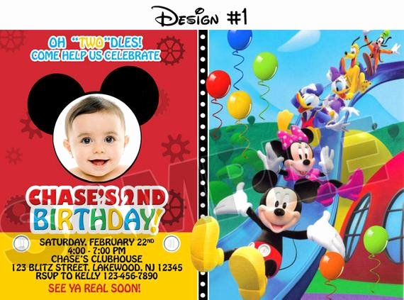 Mickey Mouse Clubhouse Birthday Invites Lovely Mickey Mouse Clubhouse Birthday Party Invitations