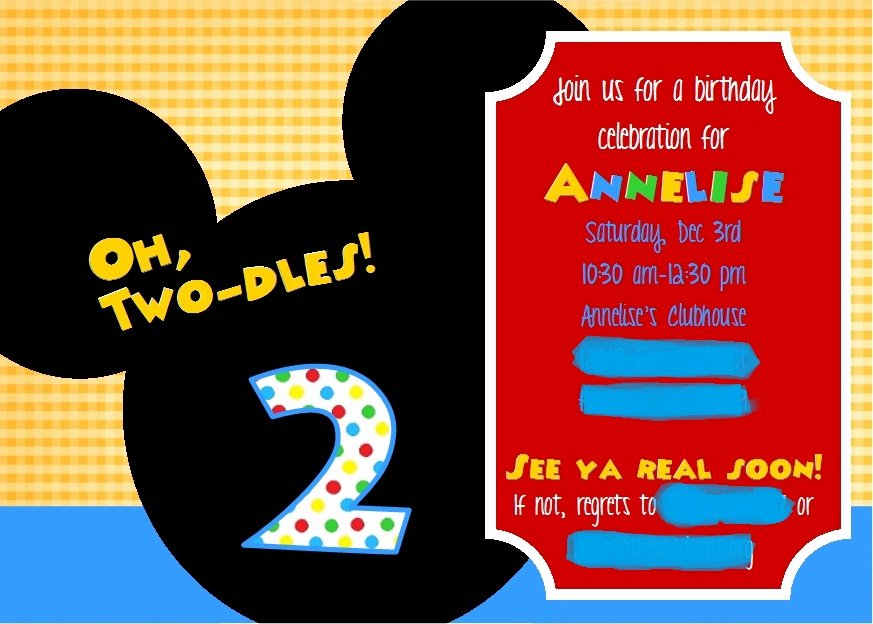 Mickey Mouse Clubhouse Birthday Invites Unique Crafting when I Can Mickey Mouse Clubhouse 2nd Birthday Party