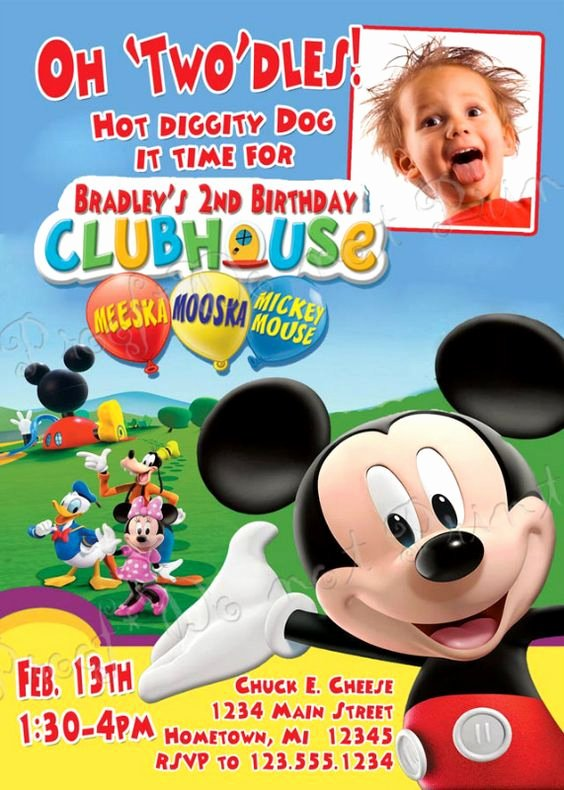 Mickey Mouse Clubhouse Birthday Invites Unique Exclusive Mickey Mouse Clubhouse Birthday Invitations