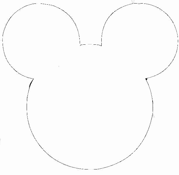 Mickey Mouse Face Template Elegant Free Outline Mickey Mouse Head Download Free Clip Art Free Clip Art On Clipart Library