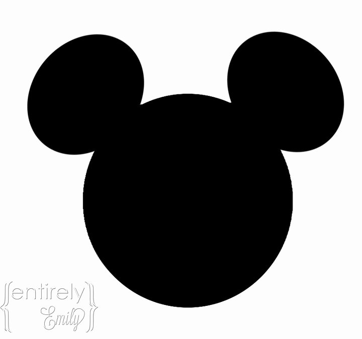 Mickey Mouse Face Template Elegant Mickey Mouse Head Template