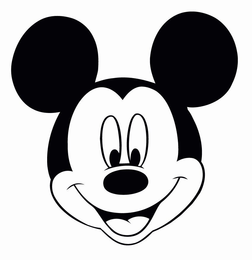Mickey Mouse Face Template Elegant Perfect Imperfect