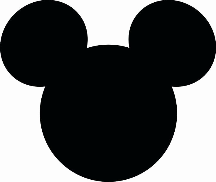Mickey Mouse Face Template Fresh Mickey Mouse Silhouette at Getdrawings