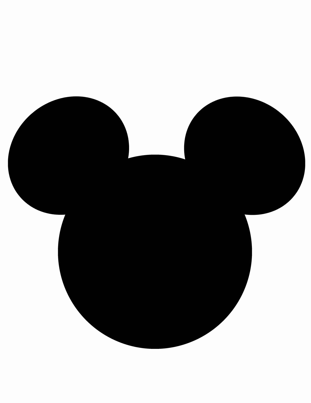 Mickey Mouse Face Template Lovely Mickey Mouse Head Template