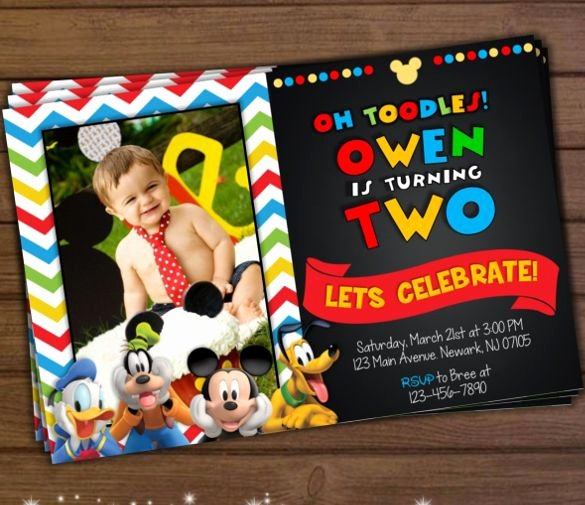 Mickey Mouse Invitations Online Beautiful Mickey Mouse Invitation Template 23 Free Psd Vector Eps Ai format Download