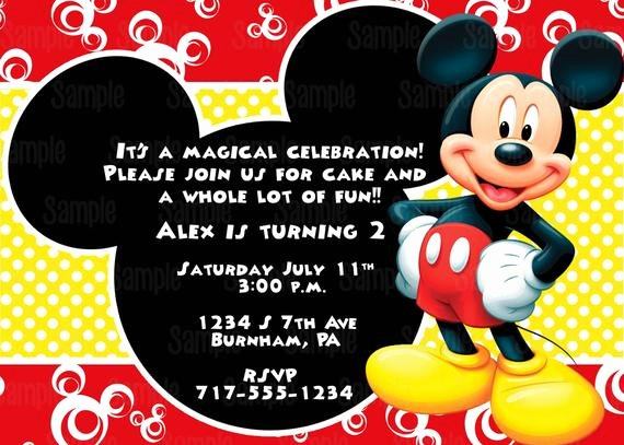 Mickey Mouse Invitations Online Beautiful Printable Mickey Mouse Invitation Plus Free Blank Matching