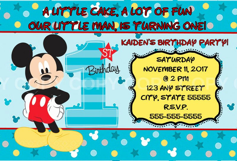 Mickey Mouse Invitations Online Elegant Disney Mickey Mouse Fun to Be E 1st Birthday Invitation 8 Pk Personalized