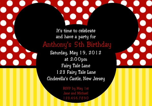 Mickey Mouse Invitations Online Lovely First Birthday Invitation 365greetings