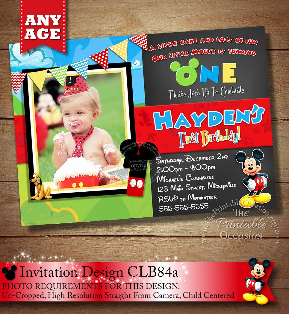Mickey Mouse Invitations Online Unique Mickey Mouse Clubhouse Invitation Mickey Invitation Mickey