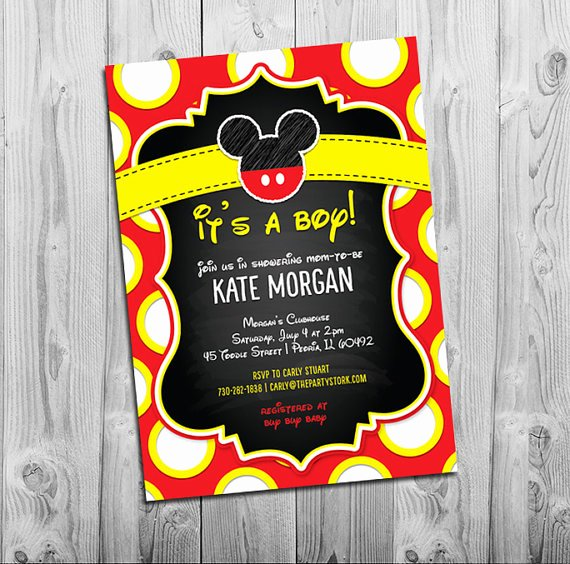 Mickey Mouse Invitations Template Best Of Blank Mickey Mouse Baby Shower Invitations