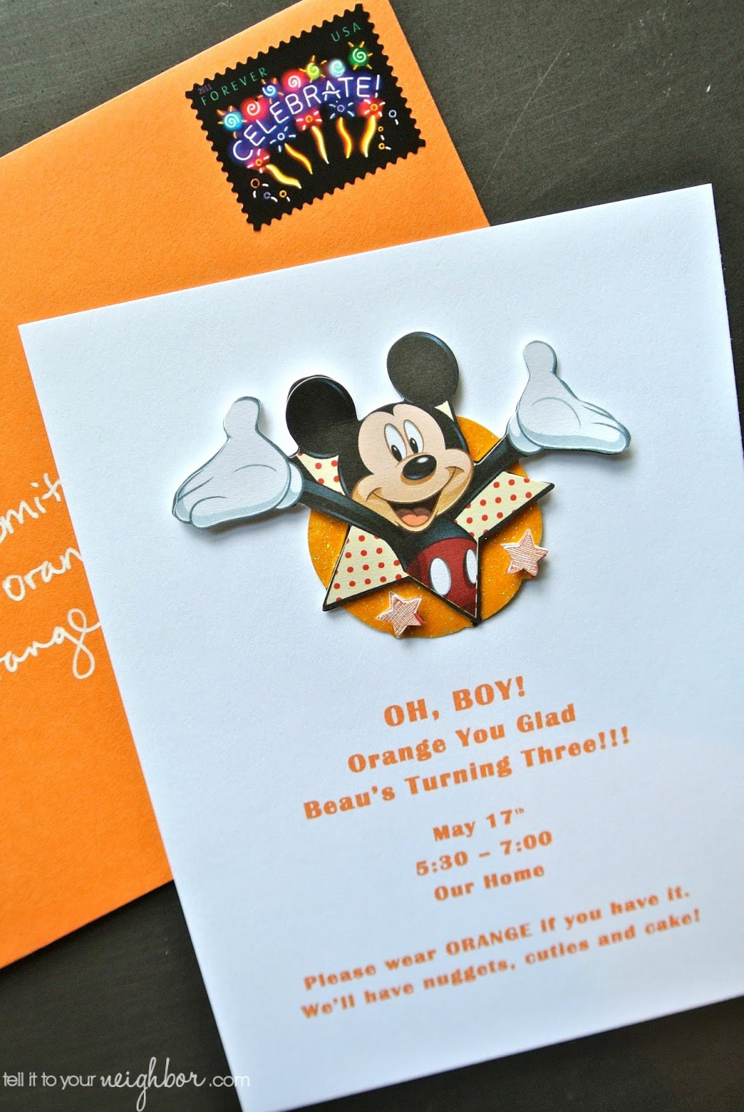 Mickey Mouse Invitations Template Luxury Easy Mickey Mouse Invite Free Template Tell It to Your Neighbor
