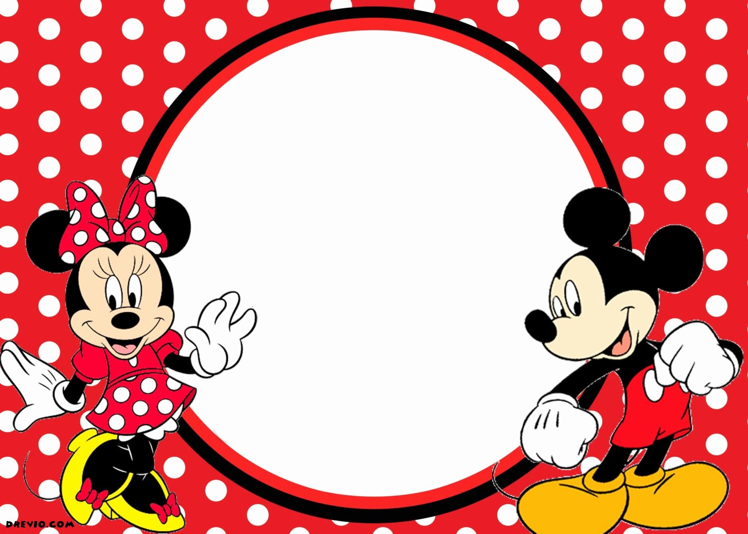 Mickey Mouse Invitations Template New Free Printable 1st Mickey and Minnie Invitation – Free Invitation Templates – Drevio