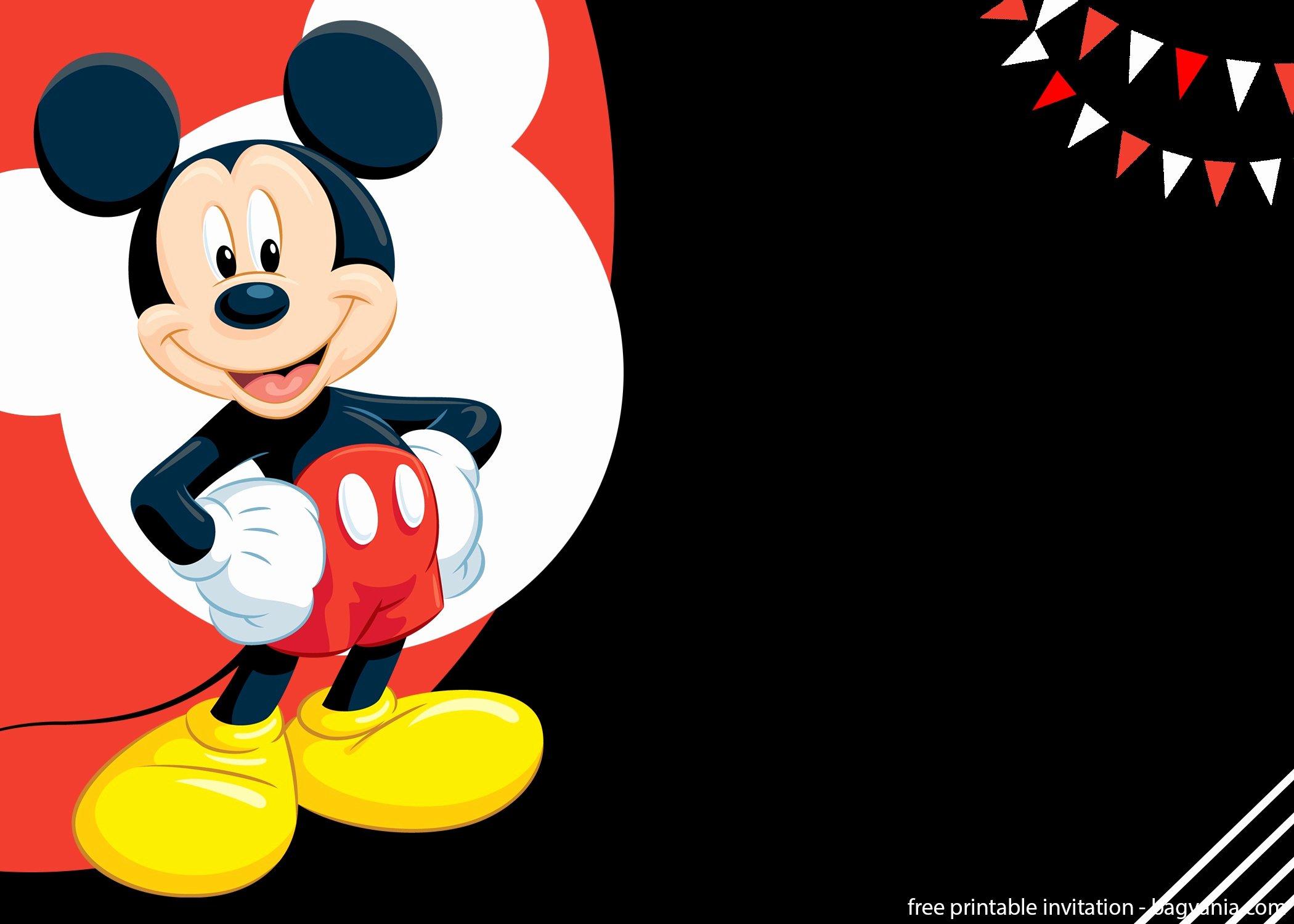 Mickey Mouse Invitations Templates Best Of Free Mickey Mouse Splish Splash Invitation Template – Free Printable Birthday Invitation