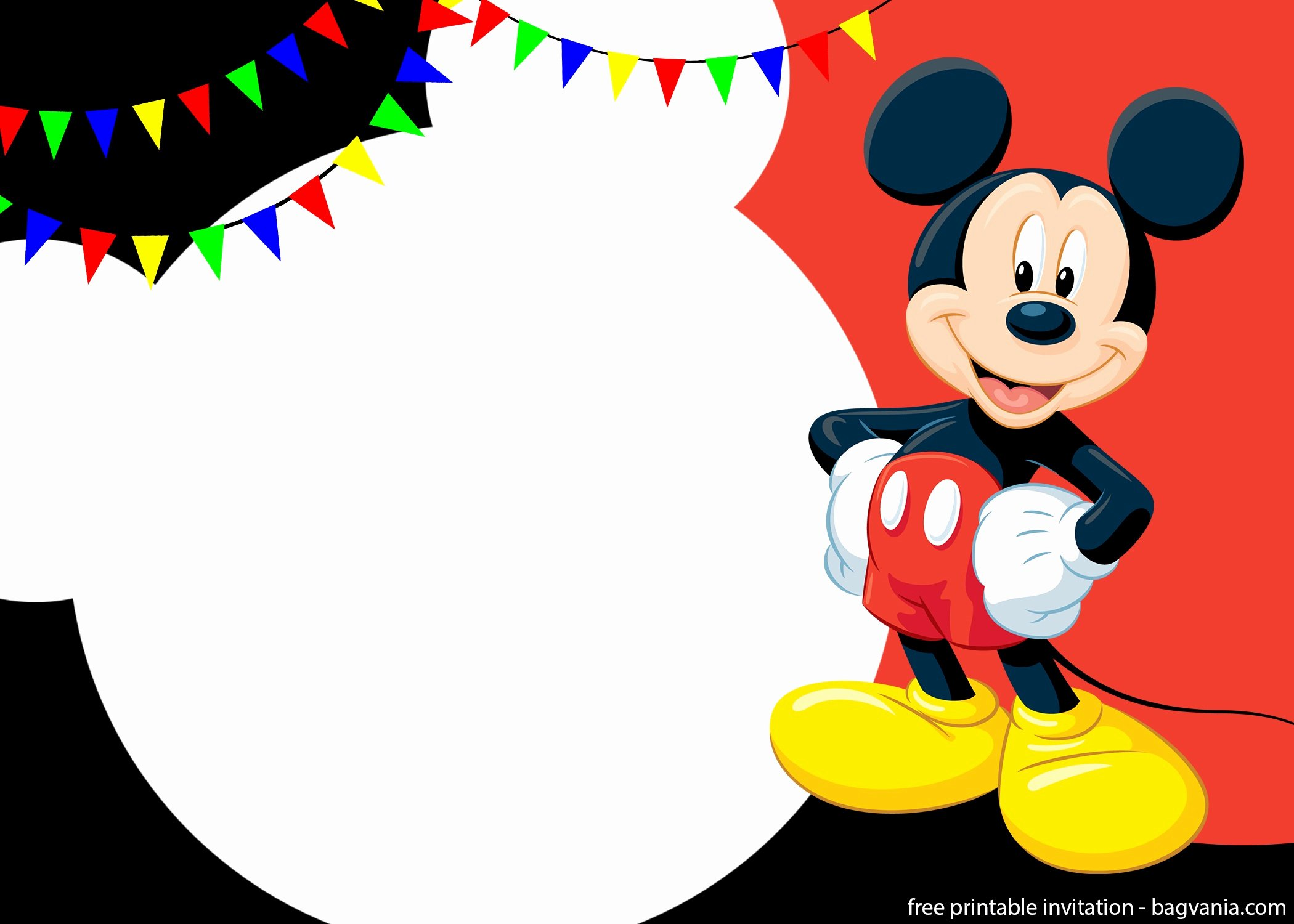 Mickey Mouse Invitations Templates Inspirational Free Printable Cute Mickey Mouse Invitation Templates – Free Printable Birthday Invitation