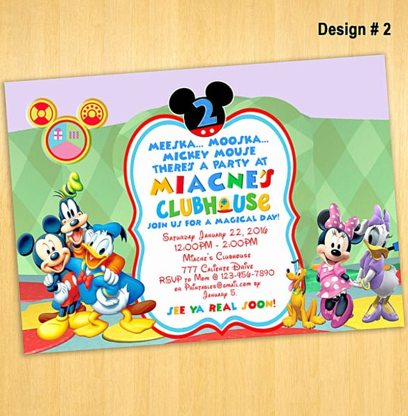 Mickey Mouse Invitations Templates Luxury 30 Mickey Mouse Invitation Template