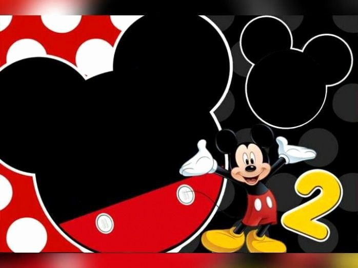 Mickey Mouse Invitations Templates Luxury Download Free Mickey Mouse 2nd Birthday Invitation Template