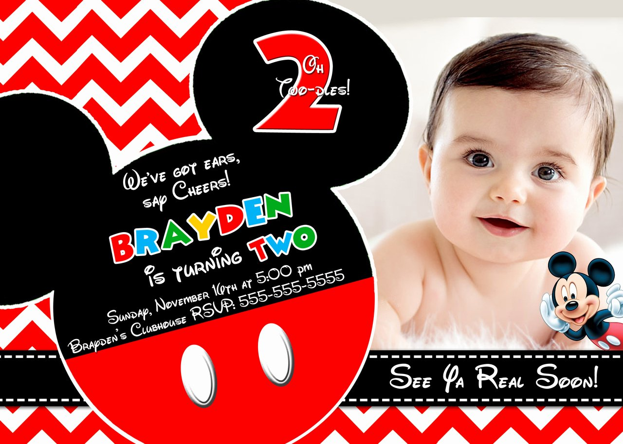 Mickey Mouse Invitations Templates Luxury Mickey Mouse Clubhouse Invitations for Special Birthday Party