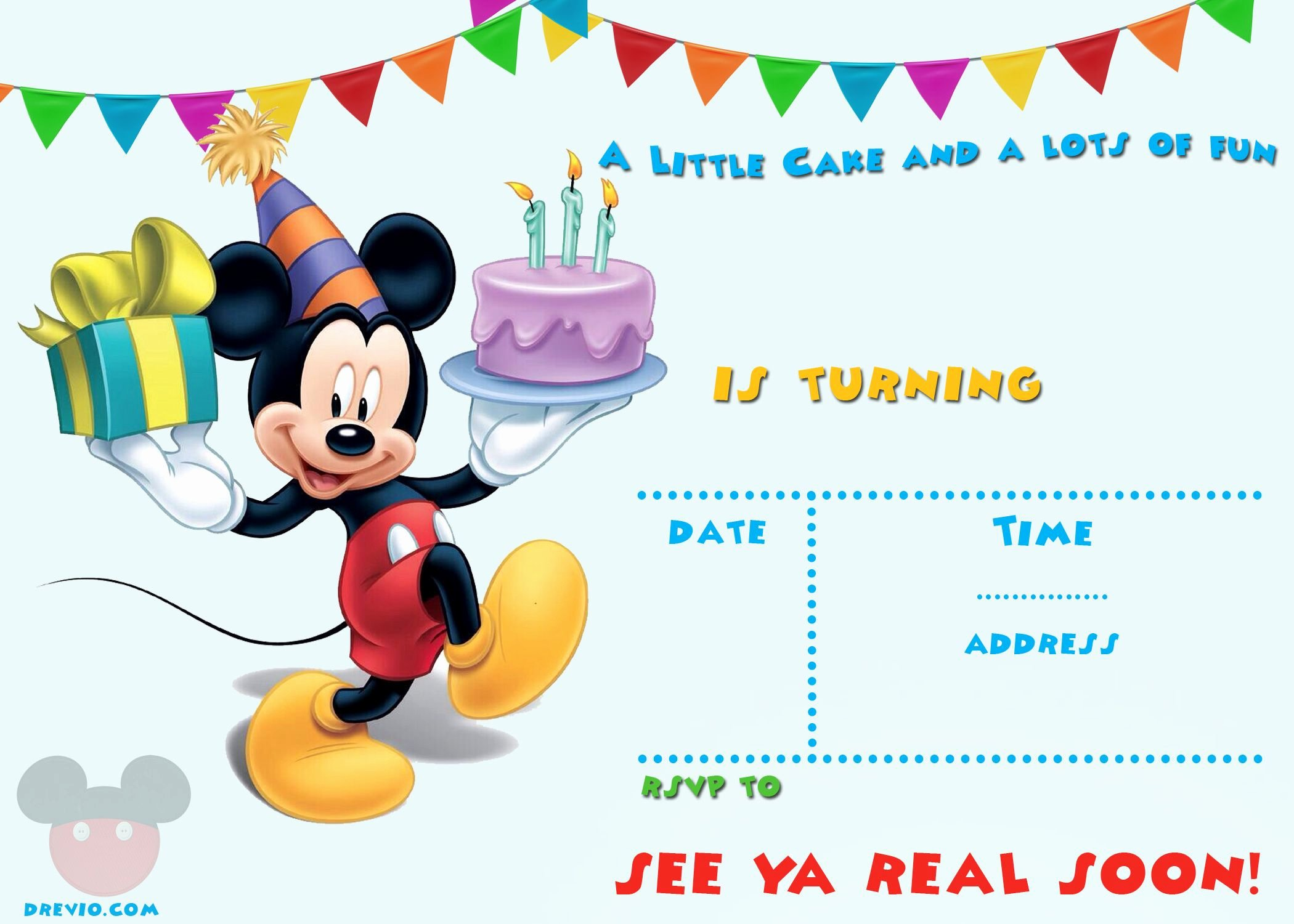 Mickey Mouse Invitations Templates New Free Printable Mickey Mouse Invitations Exclusive
