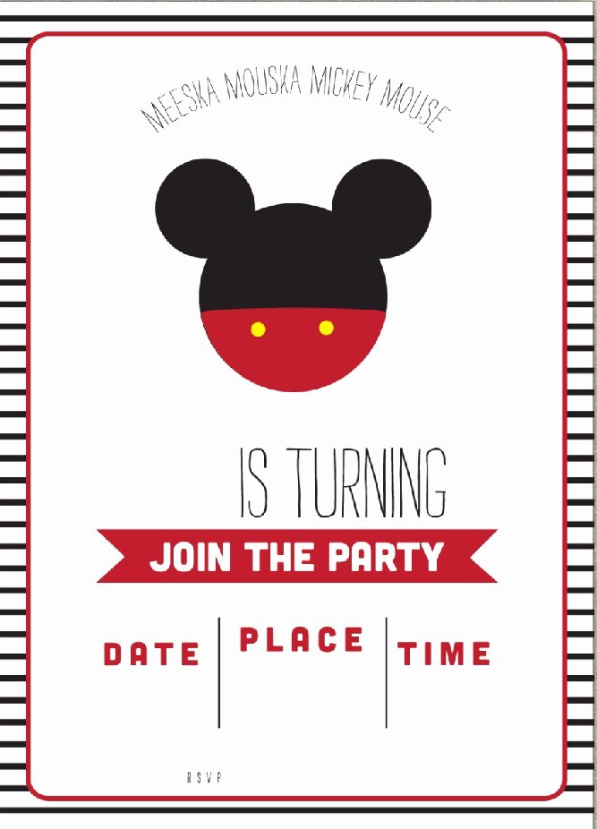 Mickey Mouse Invitations Templates Unique Free Mickey Mouse Clubhouse Birthday Invitations – Free Printable Birthday Invitation Templates