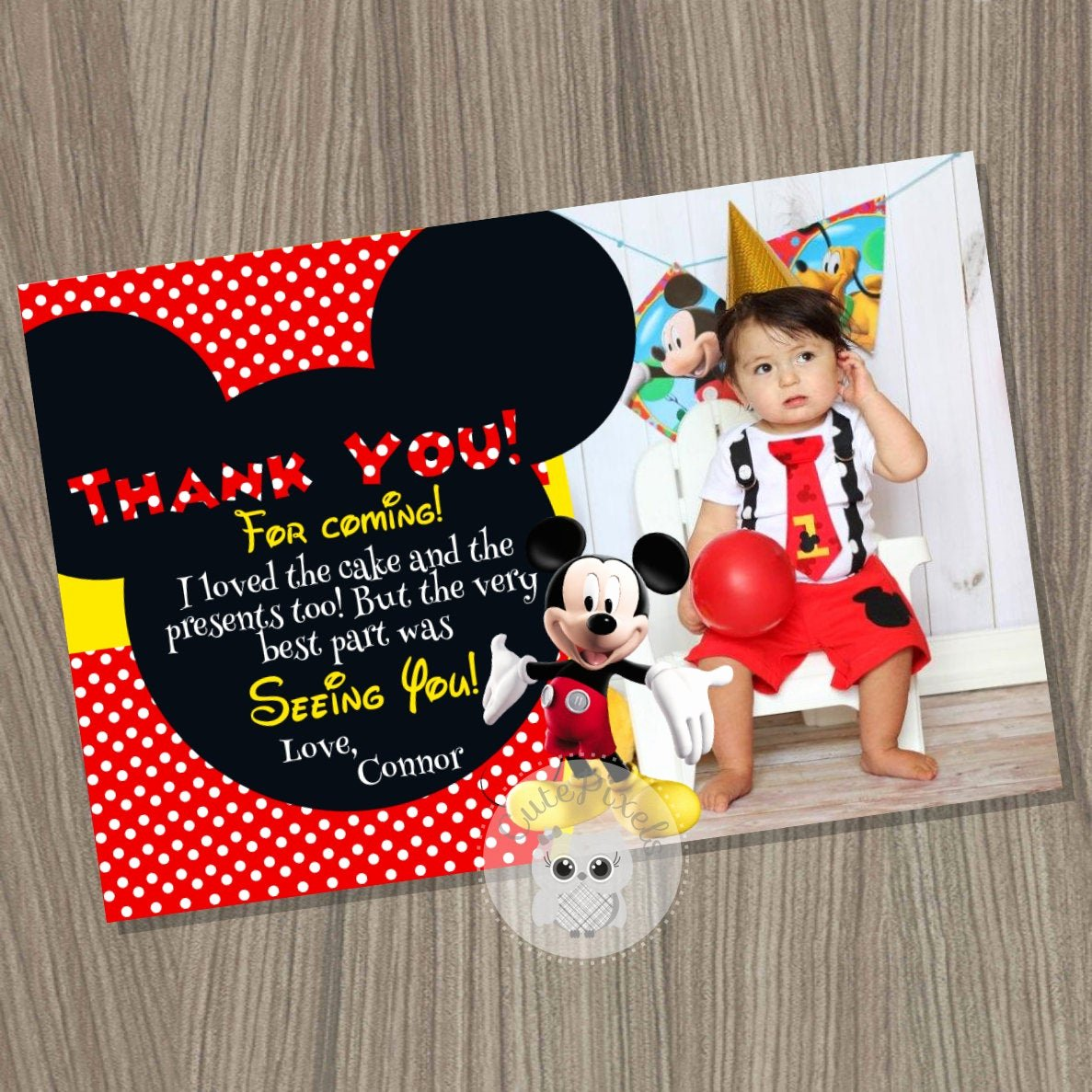 Mickey Mouse Thank You Cards Beautiful Mickey Mouse Thank You Card Mickey Mouse Birthday Mickey