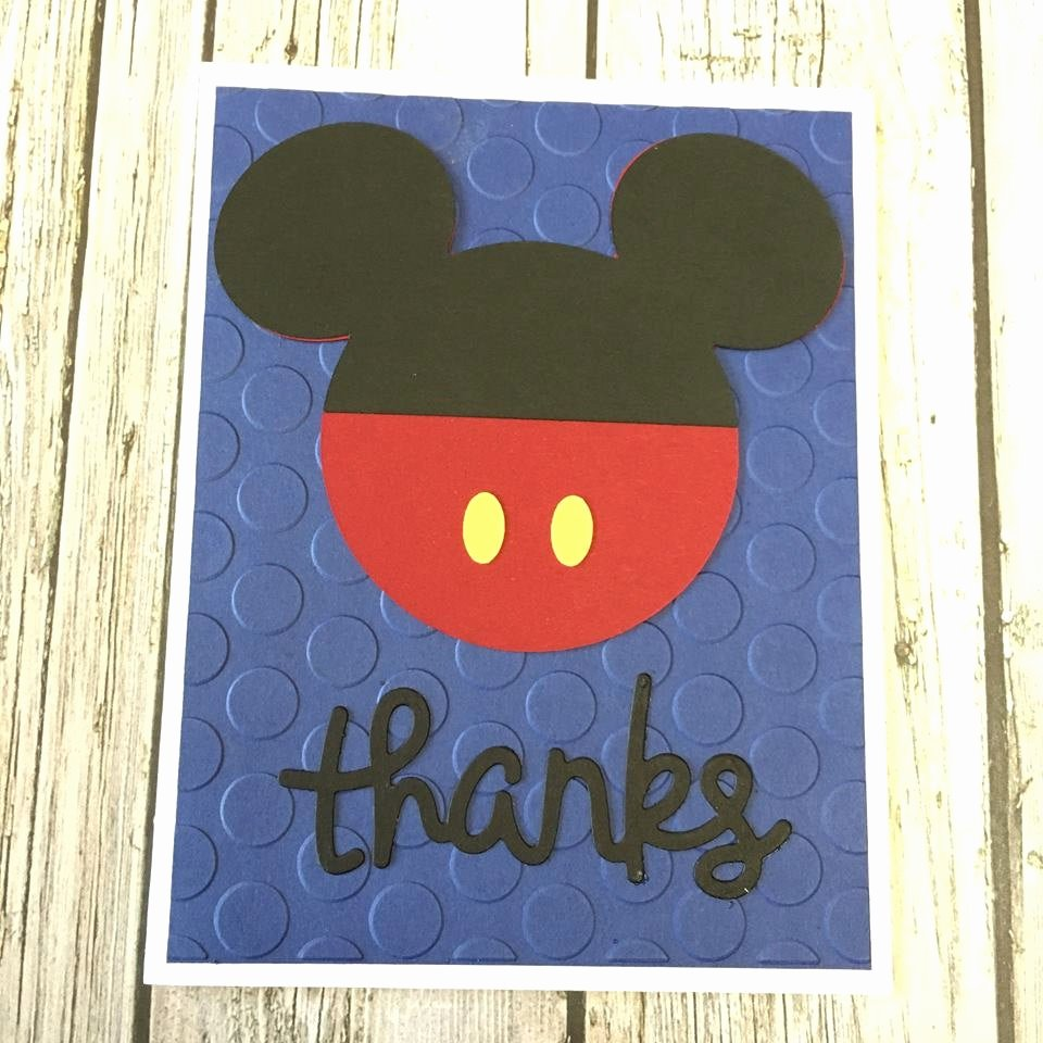 Mickey Mouse Thank You Cards Beautiful Mickey Mouse Thanks Card Disney Card Mickey Mouse Thank You