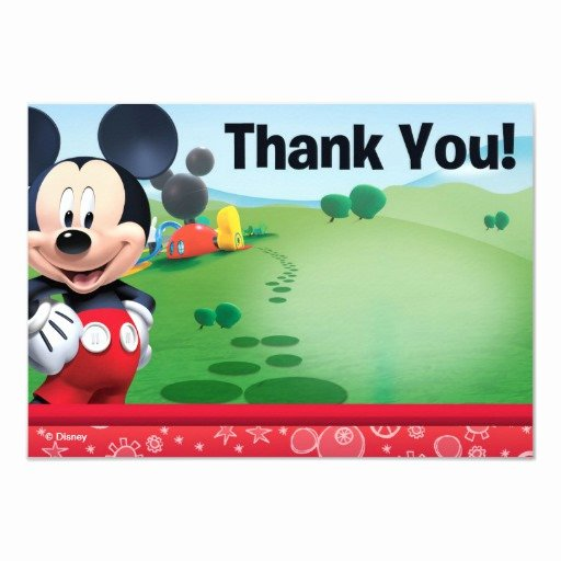 Mickey Mouse Thank You Cards Beautiful Mickey Thank You Cards