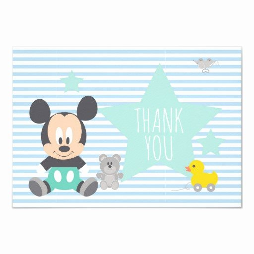 Mickey Mouse Thank You Cards Best Of Mickey Mouse First Birthday Thank You Card