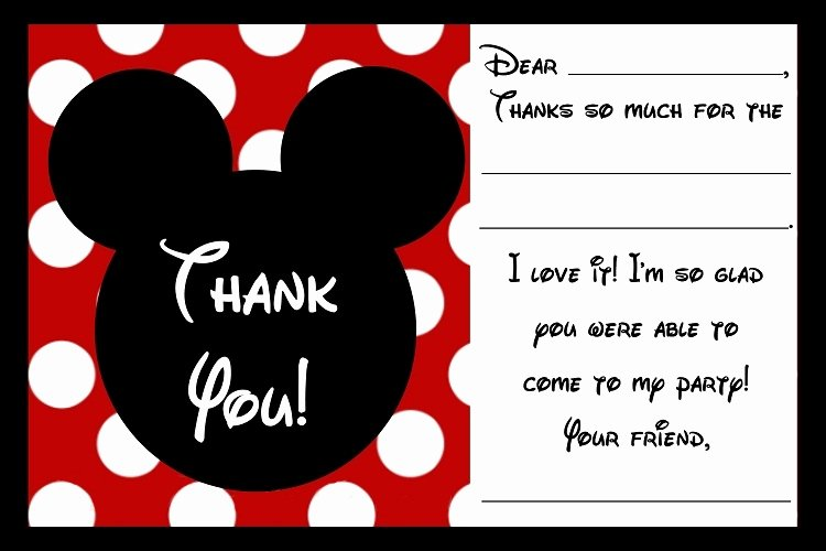 Mickey Mouse Thank You Cards Luxury Free Printable Mickey Mouse Birthday Cards