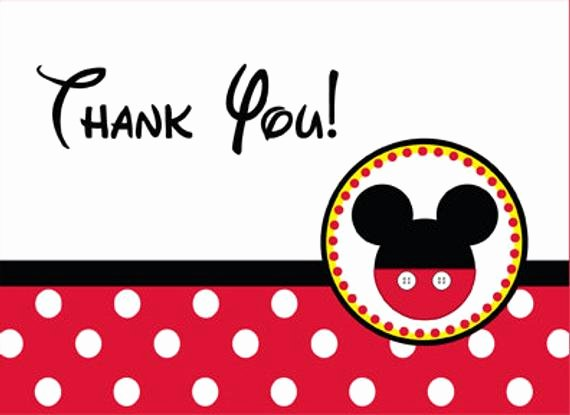 Mickey Mouse Thank You Cards Unique Mickey Mouse Thank You Card