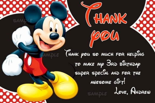 Mickey Thank You Cards Beautiful 12 Mickey Mouse Birthday Invitations Jpg Psd Ai Illustrator Download