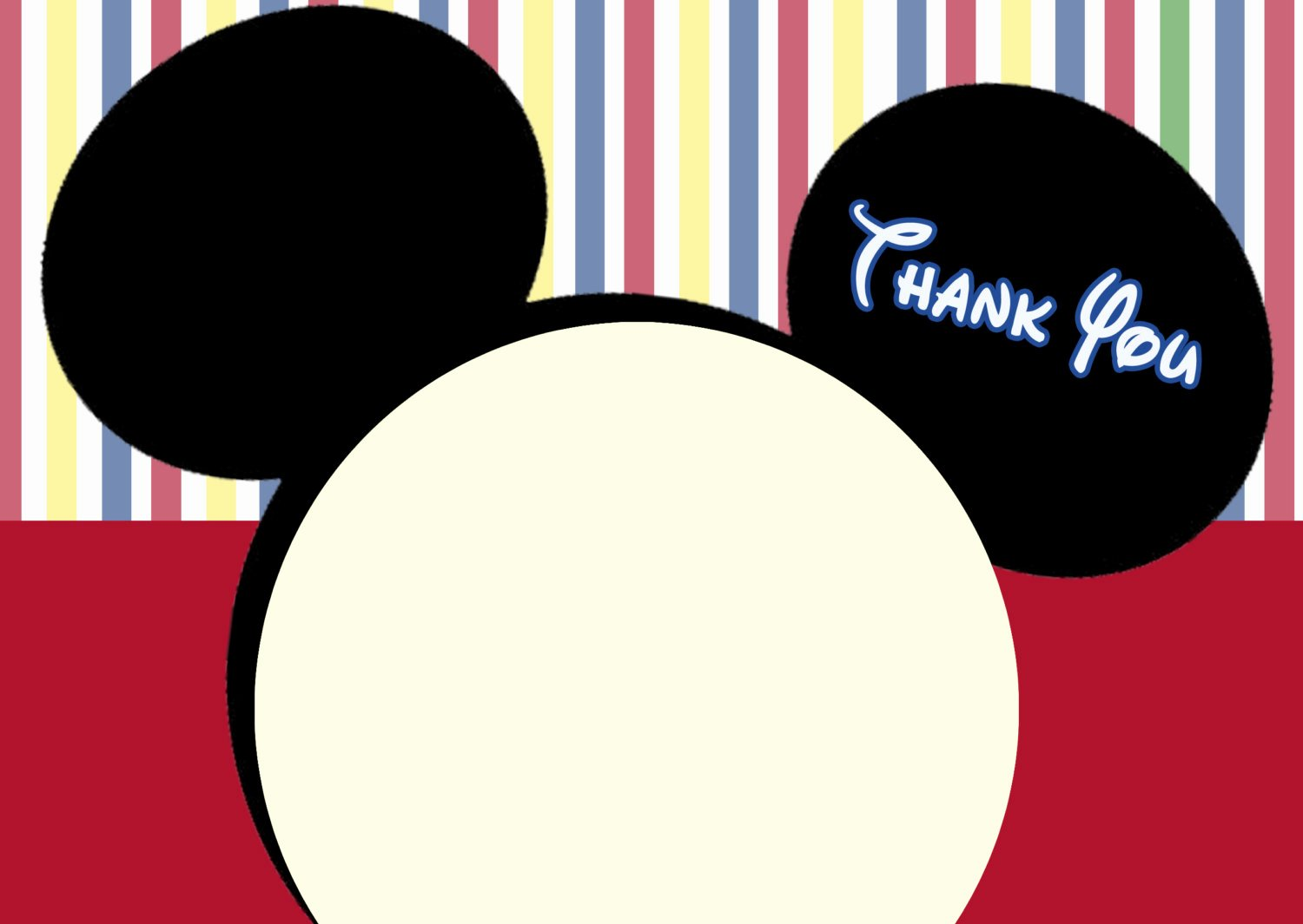 Mickey Thank You Cards Best Of Mickey Mouse Clubhouse Thank You Cards Mickey Mouse Note