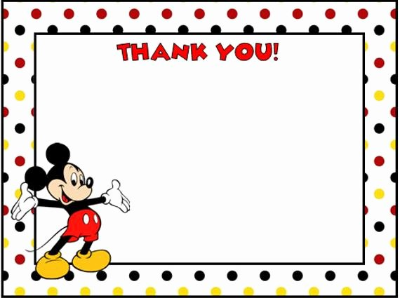 Mickey Thank You Cards Best Of Mickey Mouse Thank You Cards by Lulupaperprints On Etsy
