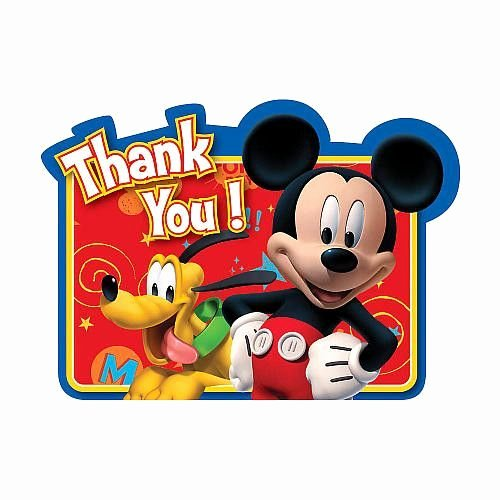Mickey Thank You Cards Fresh the Mickey Mouse Thank You Cards Feature Pluto and Mickey Mouse Saying Thank You On A Bright Red