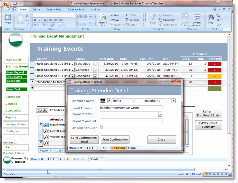 Microsoft Access Project Management Templates New Microsoft Access Templates