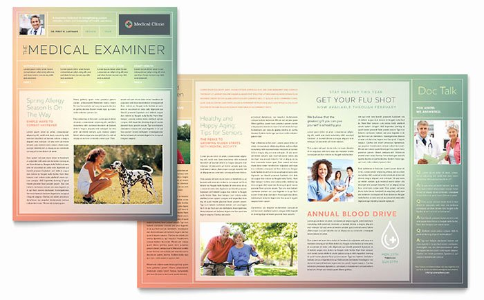Microsoft Publisher Newspaper Templates Awesome Medical Clinic Newsletter Template Word & Publisher