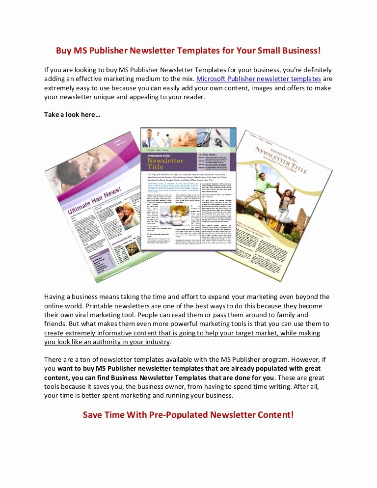 Microsoft Publisher Newspaper Templates Best Of Buy Ms Publisher Newsletter Templates
