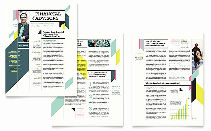 Microsoft Publisher Newspaper Templates Elegant Personal Finance Newsletter Template Word & Publisher