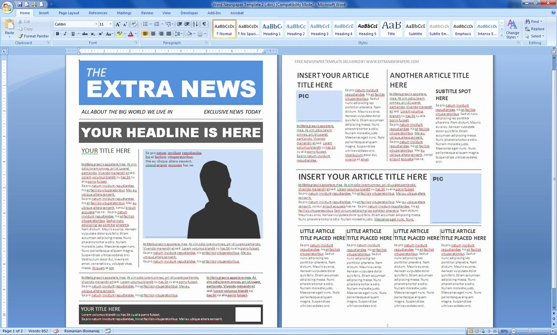 Microsoft Publisher Newspaper Templates Inspirational Newspaper Template Publisher