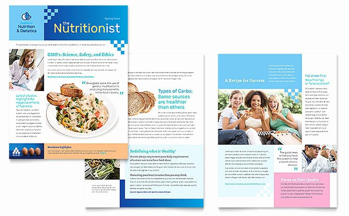 Microsoft Publisher Newspaper Templates Lovely Dietitian Newsletter Template Word & Publisher