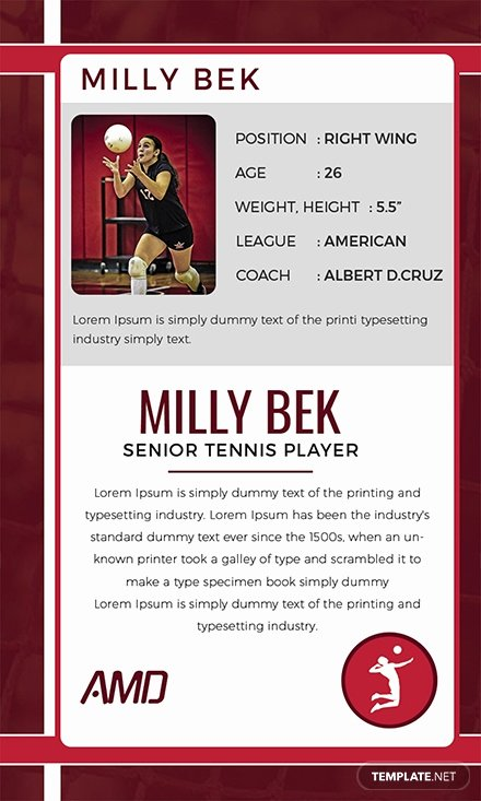 Microsoft Word Trading Card Template Luxury Free Volley Ball Trading Card Template Download 128 Cards In Psd Illustrator Word Publisher