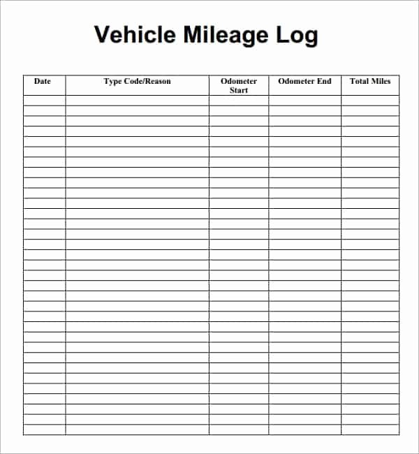 Mileage Reimbursement form Pdf Awesome 7 Vehicle Mileage Log Templates Word Excel Pdf formats