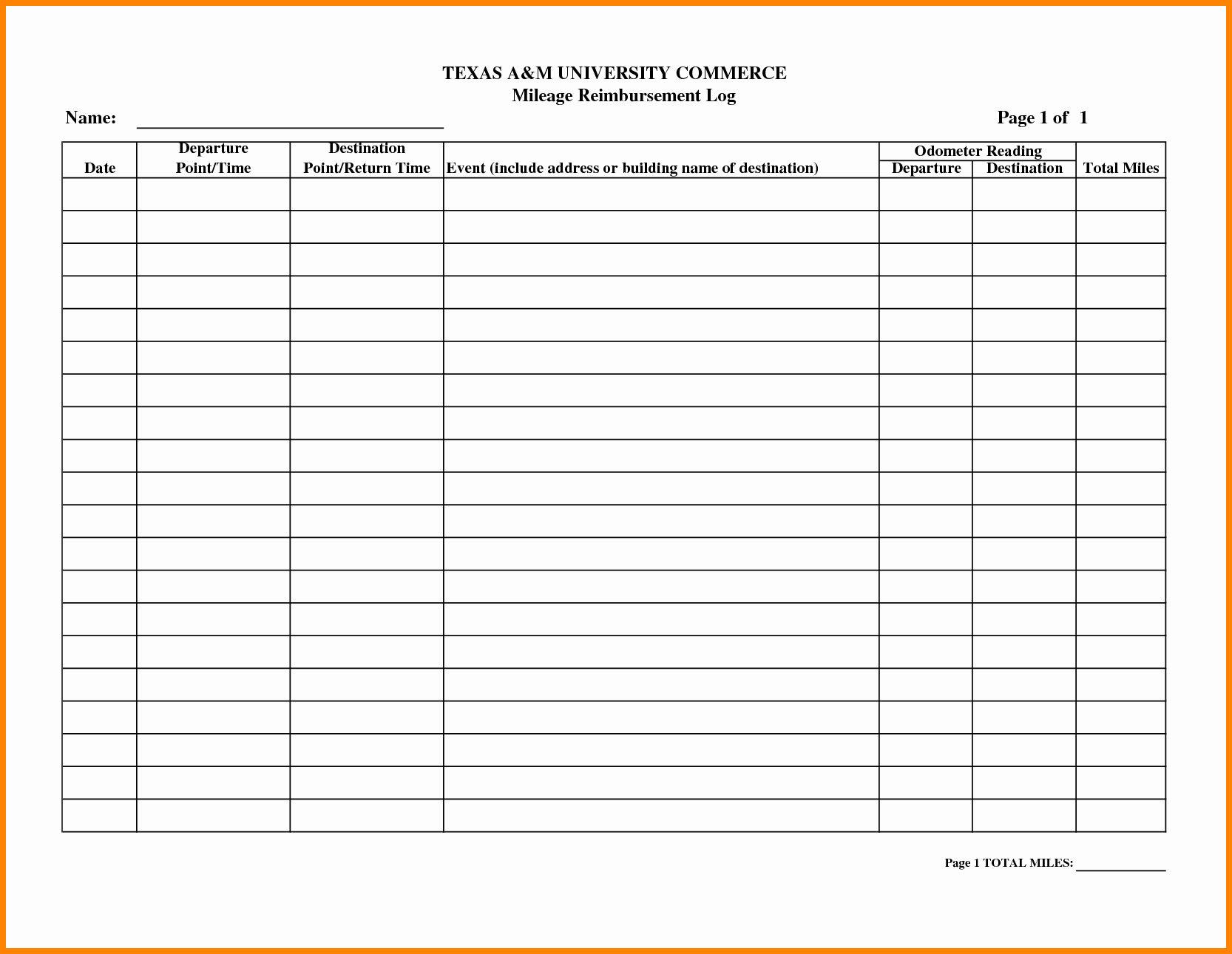 Mileage Reimbursement form Pdf Best Of Mileage Reimbursement forms