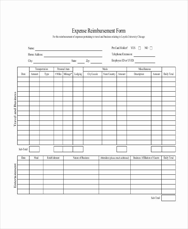 Mileage Reimbursement form Pdf Fresh Sample Mileage Reimbursement form 11 Examples In Word Pdf Excel