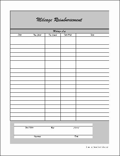 Mileage Reimbursement form Pdf Luxury Mileage Reimbursement form Pdf
