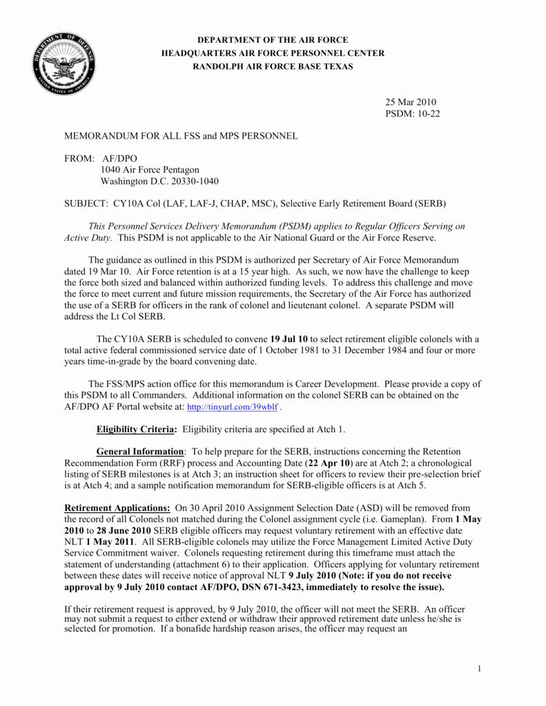 official memorandum template