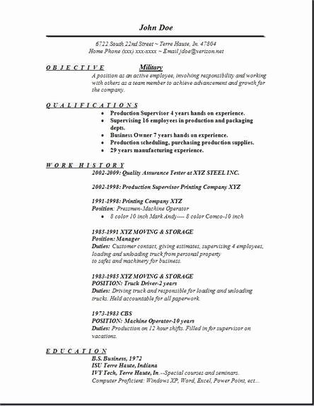 Military Resume Template Microsoft Word Elegant Military Resume Occupational Examples Samples Free Edit with Word