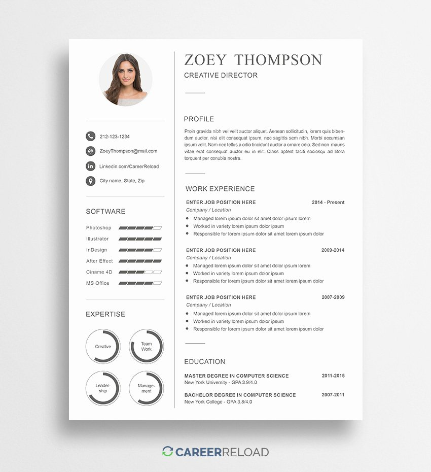Military Resume Template Microsoft Word New Free Shop Resume Templates Free Download Career Reload